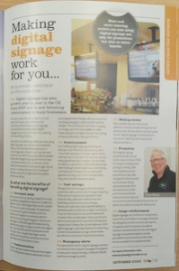 Eclipse Digital Media Stir It Up Magazine October 2012 Digital Signage Article Colin Thody