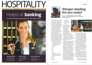 Eclipse Digital Media - Digital Signage Solutions - Hospitality Magazine Autumn Edition - Digital Signage and Food Allergen Law Changes Article
