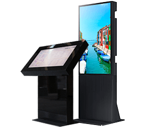 Eclipse digital media digital signage totems and kiosks