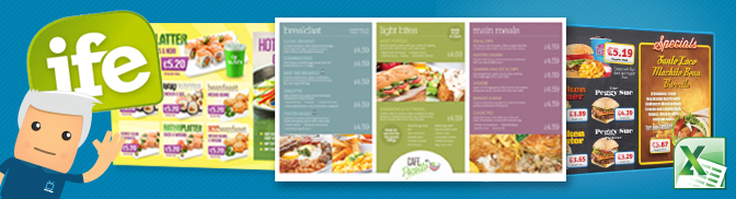 Digital Menu Boards at IFE 13, ExCel London