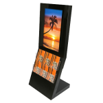 "Eclipse Digital Media 40"" Freestanding Digital Poster Display with Integrated Literature Stand Full"