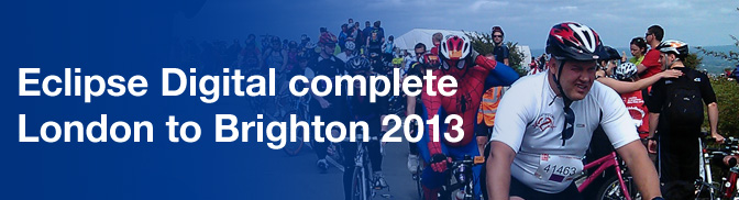 Eclipse Digital Complete the London to Brighton Bike Ride 2013