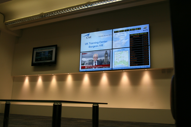 Eclipse Digital Media Digital Signage CAE Burgess Hill Video Wall 3
