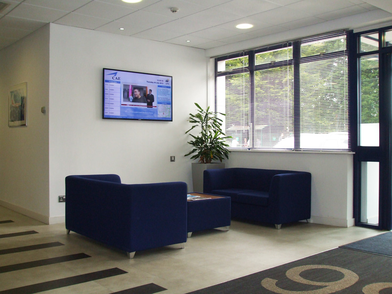 eclipse digital media digital signage solutions cae reception