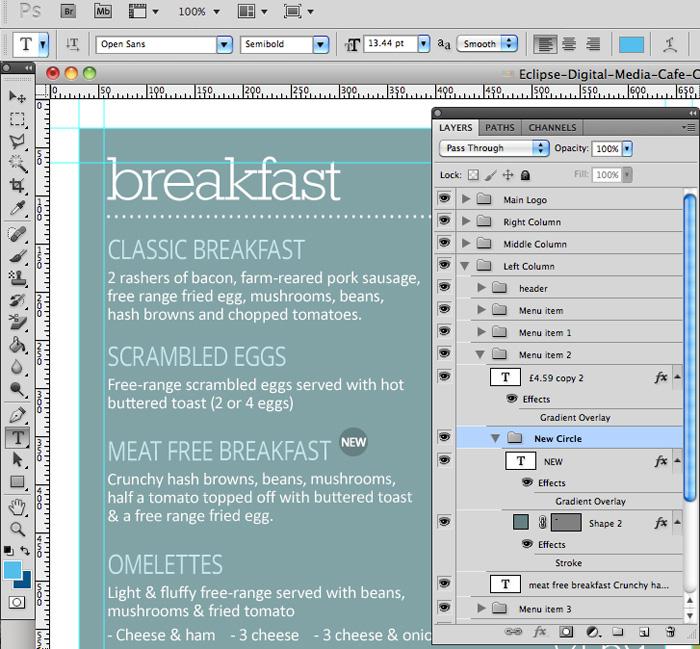 Cafe Canteen Style Menu Board Psd Template Eclipse Digital Media