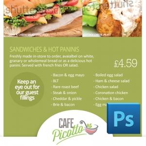 Eclipse Digital Media Digital Signage Cafe / Canteen Style Digital Menu Board PSD Photoshop Template