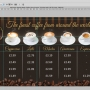 Eclipse Digital Media Digital Signage PSD Digital Menu Board Template Coffee Shop Design Version 2 Full