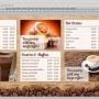 Eclipse Digital Media Digital Signage PSD Digital Menu Board Template Coffee Shop Design Version 1 Full