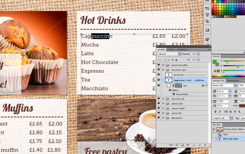 Coffee Shop Menu Board PSD Template | Eclipse Digital Media