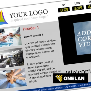 Eclipse Digital Media Digital Signage - Corporate / Business Template - ONELAN Digital Signage Layout Package Featured