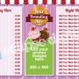 Eclipse Digital Media Digital Signage Dessert Lounge / Cake Shop ONELAN Digital Menu Board Layout Package Full
