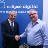 Eclipse Digital Media Digital Signage Appoint New Chairman Iain Ramsay with Colin Thody