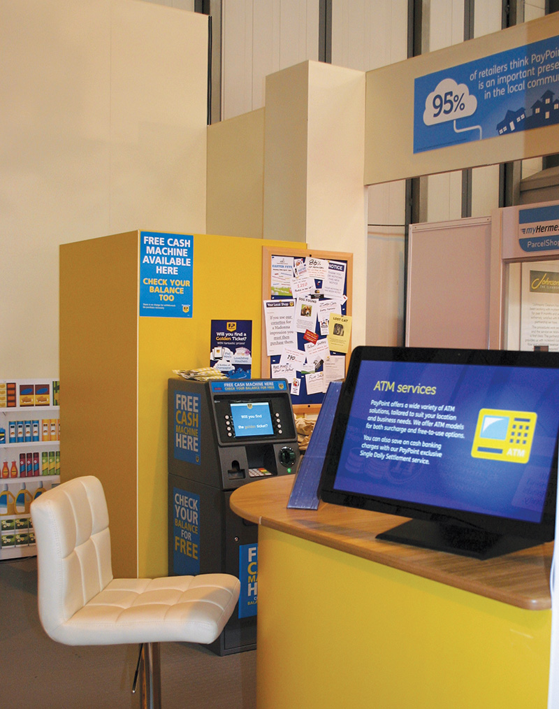 Eclipse Digital Media Digital Signage - PayPoint - Exhibition Difgital Signage Case Study 21 inch Android Tablet