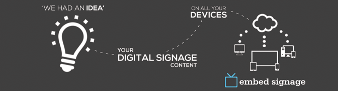 Welcome to embed signage – New Digital Signage Software SaaS