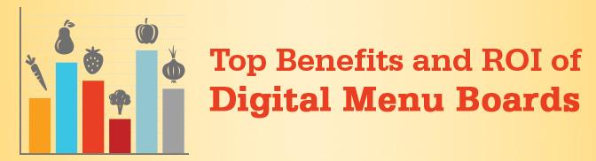 Top Benefits and ROI of Digital Menu Boards 2014