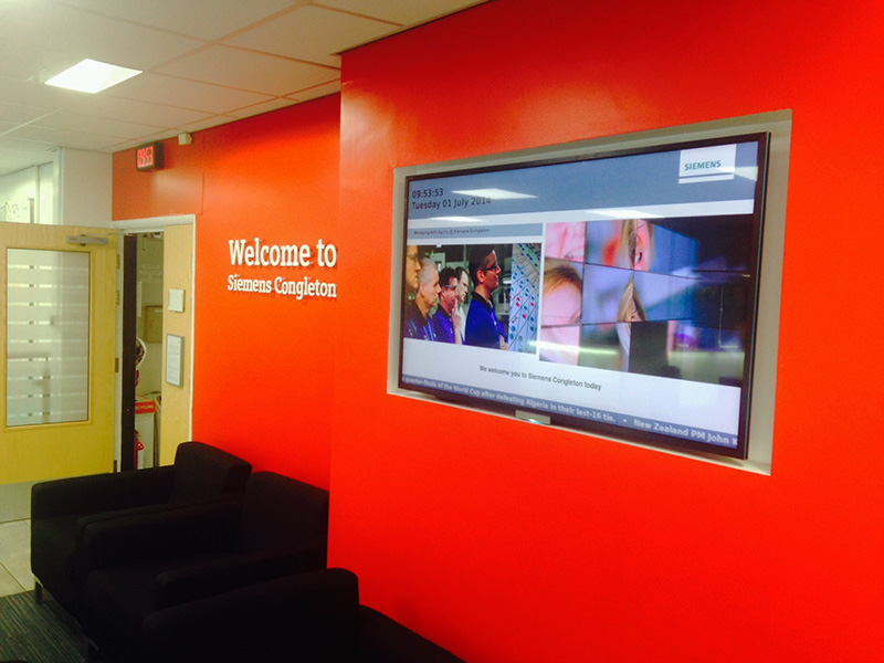 Eclipse Digital Media Digital Signage Solutions - Siemens Digital Signage Case Study - Congleton 1
