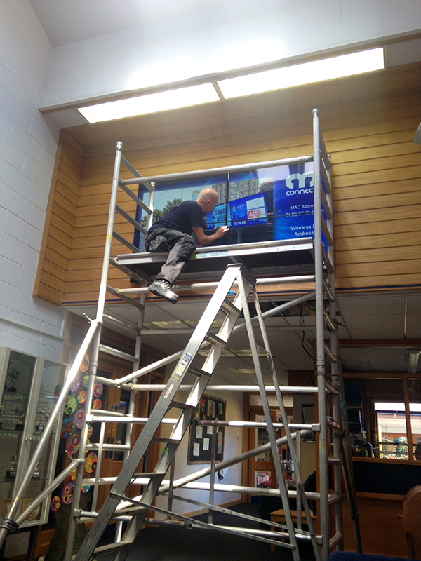 Eclipse Digital Media - Digital Signage Solutions - Northampton High School - Junior School Video Wall Installation