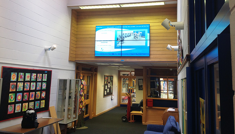Eclipse Digital Media - Digital Signage Solutions - Northampton High School - Junior School Video Wall 1