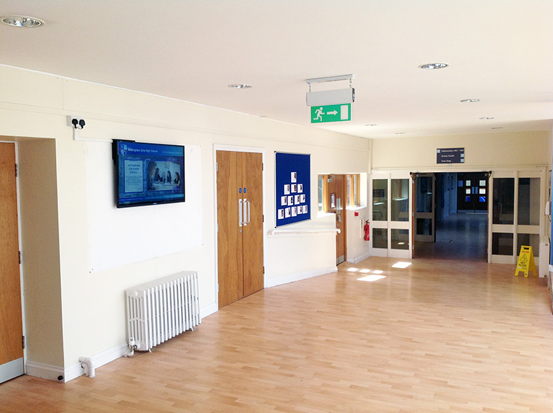 Eclipse Digital Media - Digital Signage Solutions - Nottingham Girls' High School - Atrium