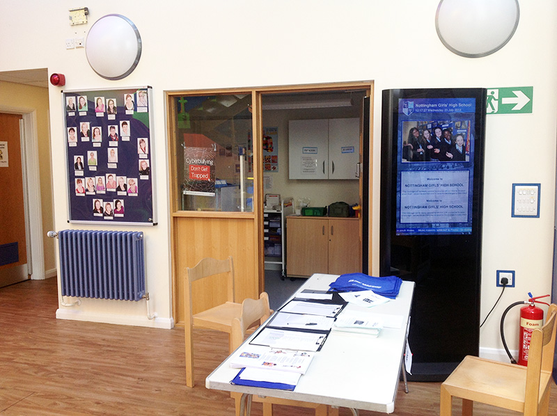Eclipse Digital Media - Digital Signage Solutions - Nottingham Girls' High School - Junior School Freestanding Digital Totem