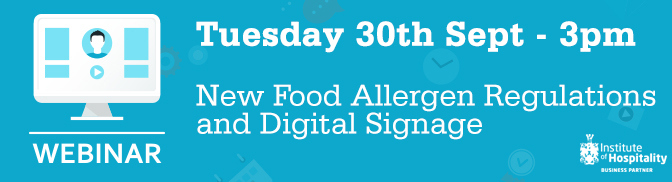 Webinar: New Food Allergen Regulations and Digital Signage