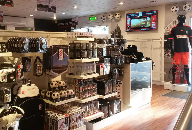 Eclipse Digital Media - Digital Signage Solutions - Fulham Football Club - Retail Stadium Shop Digital Signage