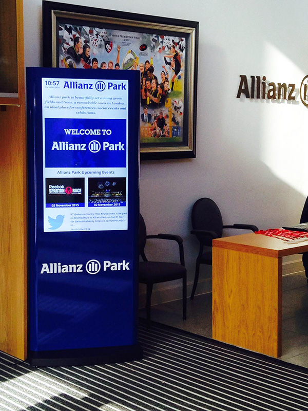 Eclipse Digital Media - Digital Signage Solutions - Allianz Park Digital Signage Reception 1