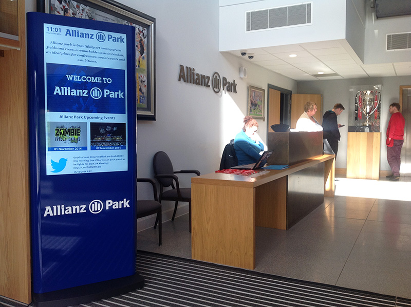 Eclipse Digital Media - Digital Signage Solutions - Allianz Park Digital Signage Reception 2