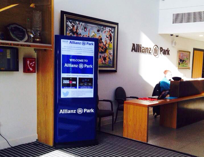 Eclipse Digital Media - Digital Signage Solutions - Allianz Park Digital Signage Reception 3