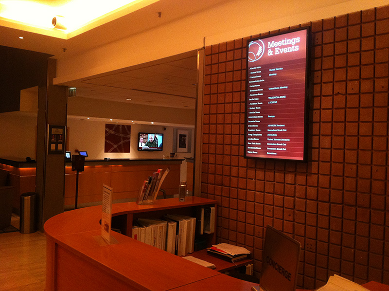 Eclipse Digital Media - Digital Signage Solutions - Sheraton Skyline Hotel London Heathrow - Concierge