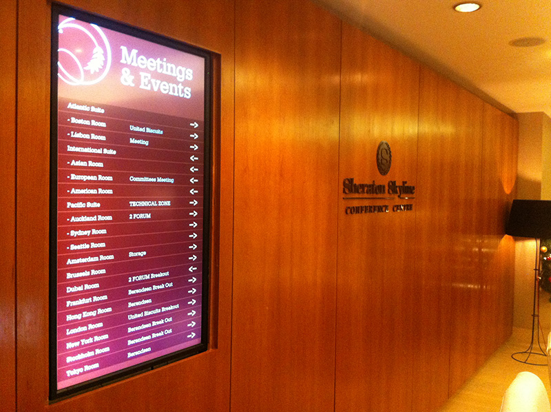 Eclipse Digital Media - Digital Signage Solutions - Sheraton Skyline Hotel London Heathrow - Conference Centre 1