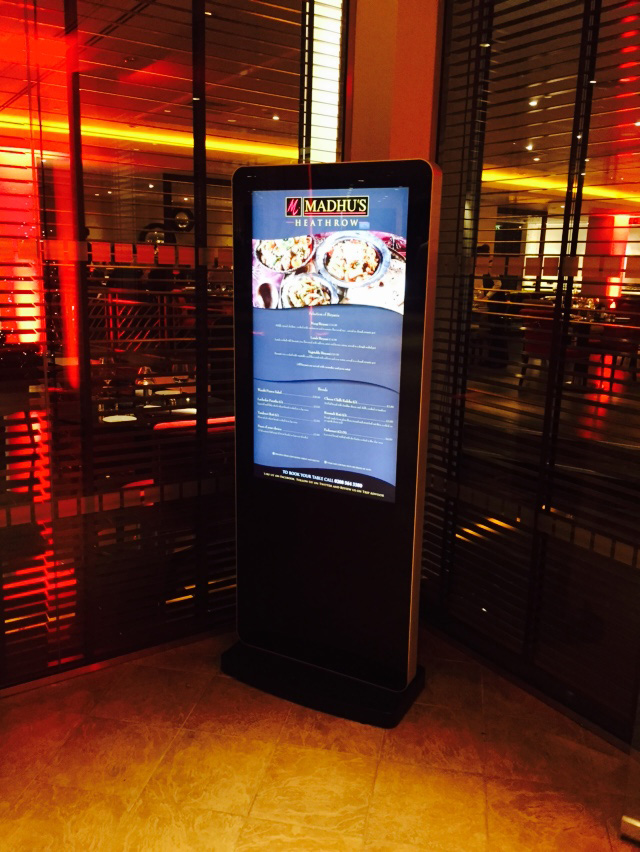 Eclipse Digital Media - Digital Signage Solutions - Sheraton Skyline Hotel London Heathrow - Madhu's Restaurant