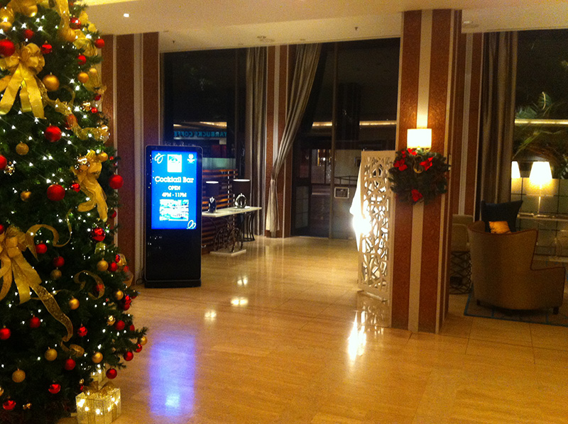Eclipse Digital Media - Digital Signage Solutions - Sheraton Skyline Hotel London Heathrow - Sky Bar Lobby