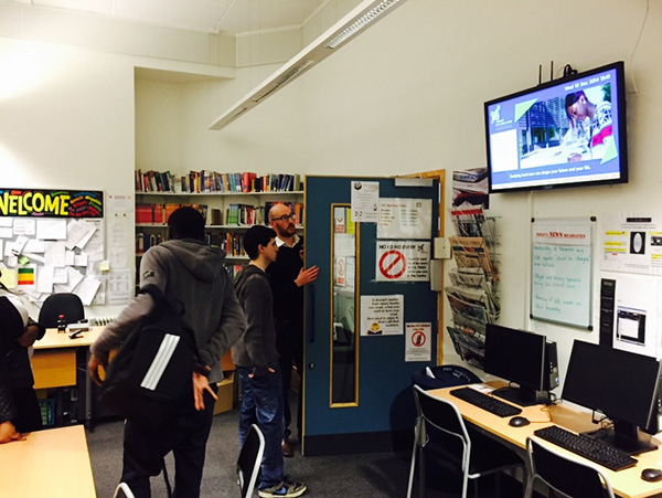 Eclipse Digital Media - Digital Signage Solutions - Haringey Sixth Form Centre - Library Learning Resource Centre