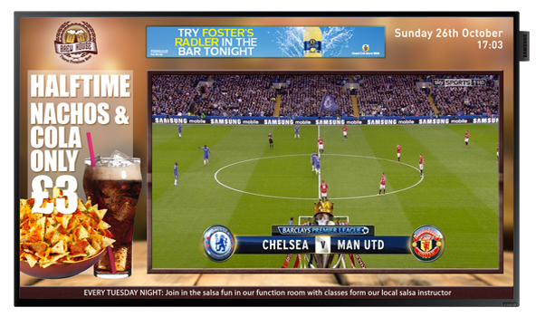 Eclipse Digital Media - Digital Signage Solutions - Pub Sports Bar Live Sports Digital Signage Screens