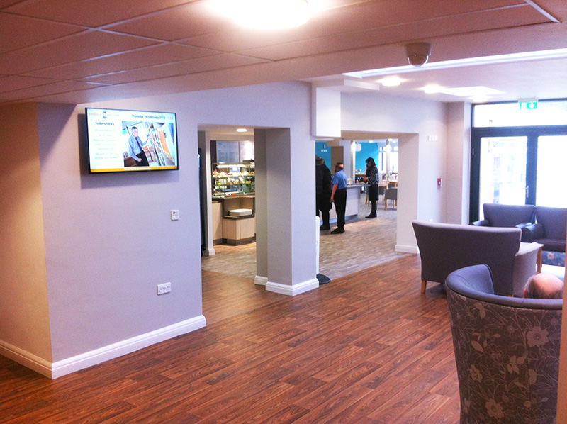 Eclipse Digital Media - Digital Signage Solutions - THE FED - Heathlands Village Care Home - Food Hall Digital Signage