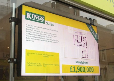 eclipse digital media digital signage solutions kings lettings digital signage front 1