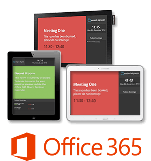 eclispe digital media embed signage room booking plugin screens office 365