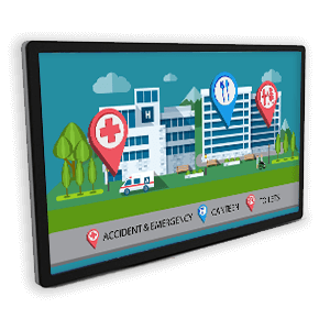 eclipse digital media hospital wayfinding solution