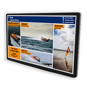 Eclipse digital media interactive touch displays