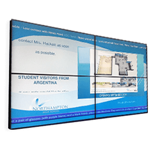 eclipse digital media video wall for education