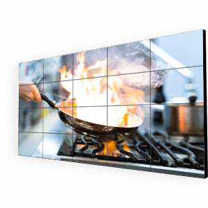 eclispe digital media video wall digital signage for restaurants
