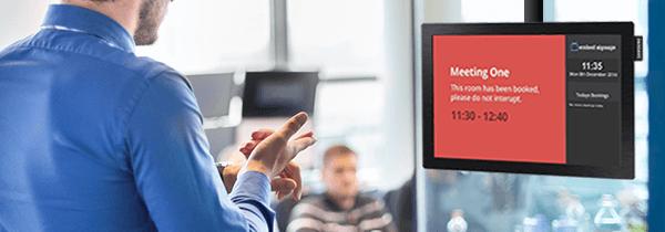 eclipse digital media digital signage room booking solution header