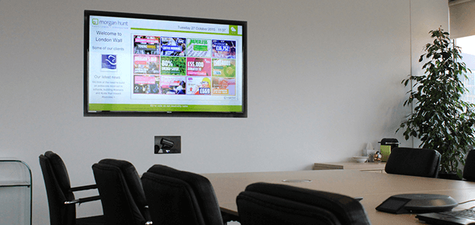 eclipse digital media digital signage solutions corporate meeting room example