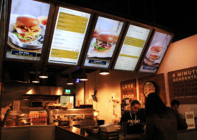 eclipse digital media digital signage solutions restaurant prime burger menuboards