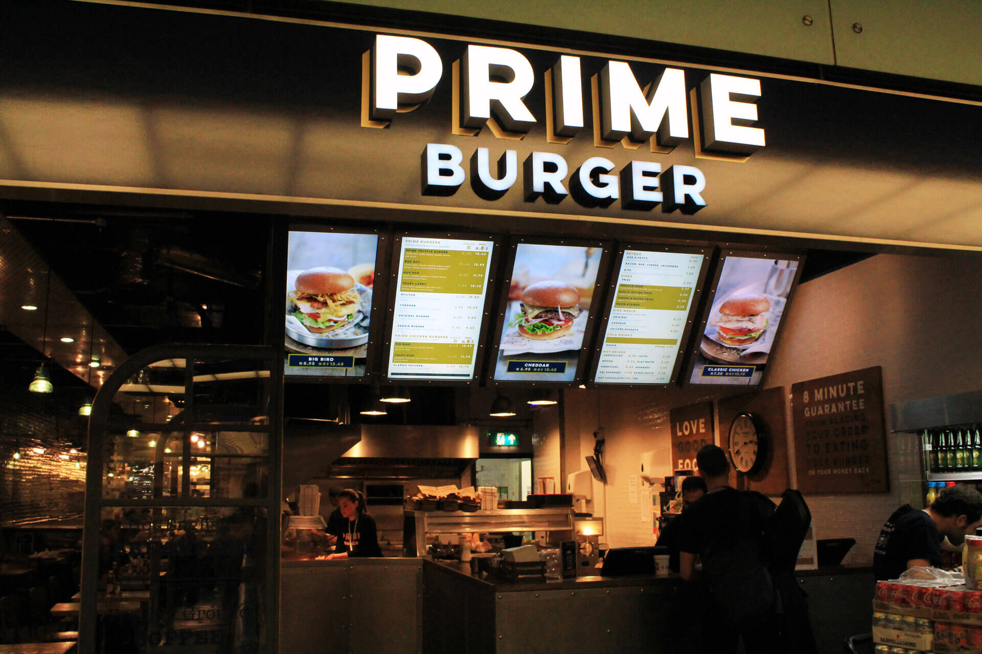 eclipse digital media digital signage solutions restaurant prime burger stpancras
