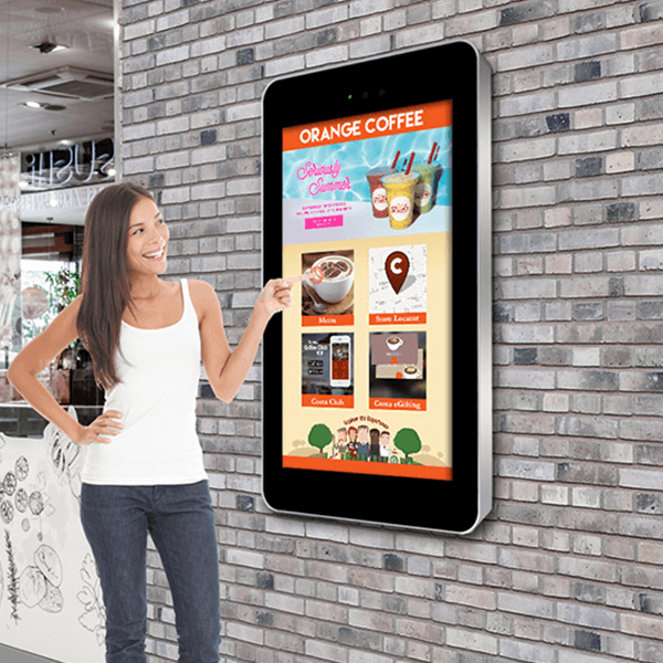 32 Wall Mounted Outdoor Pcap Touch Interactive Display