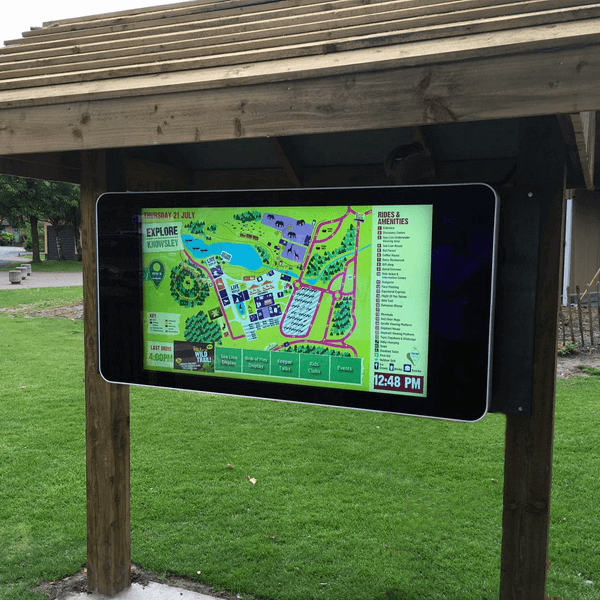 47 Wall Mounted Pcap Touch Interactive Outdoor Display