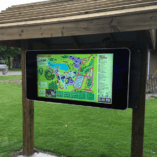 Eclipse Digital Media 55 inch Interactive outdoor Wall mounted digital signage horizontal