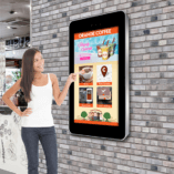 Eclipse Digital Media 55 inch Interactive outdoor Wall mounted digital signage vertical